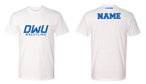 Dakota Wesleyan Univ Wrestling Cotton Crew Tee - White