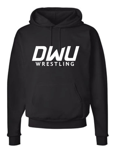 Dakota Wesleyan Univ Wrestling Cotton Hoodie - Black