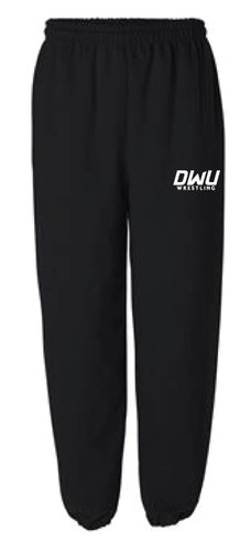 Dakota Wesleyan Univ Wrestling Cotton Sweatpants - Black