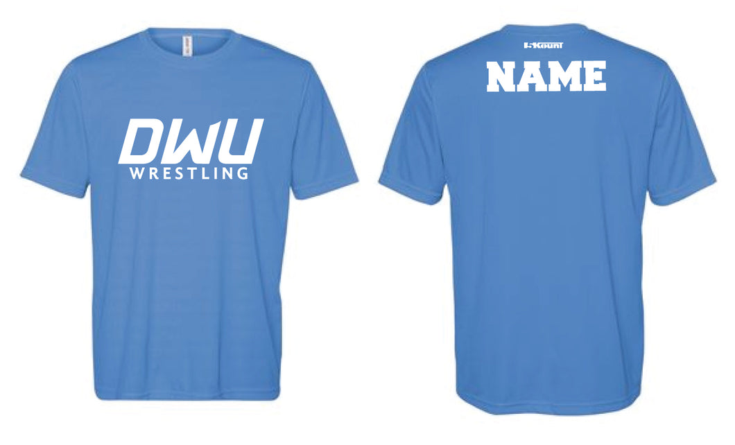 Dakota Wesleyan Univ Wrestling DryFit Performance Tee - Light Blue