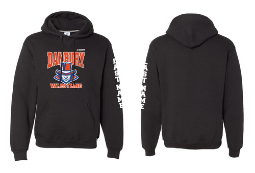 Danbury HS Wrestling Russell Athletic Cotton Hoodie - Black - 5KounT2018