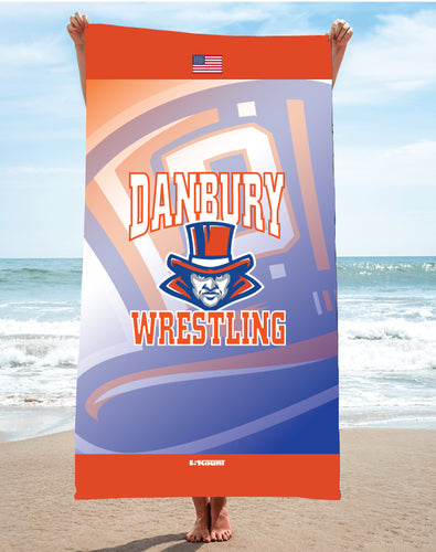 Danbury Wrestling Sublimated Beach Towel - 5KounT2018