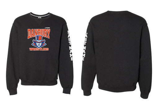 Danbury HS Wrestling Russell Athletic Cotton Crewneck Sweatshirt - Black - 5KounT2018