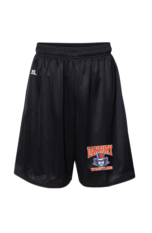 Danbury HS Wrestling Russell Athletic  Tech Shorts - Black