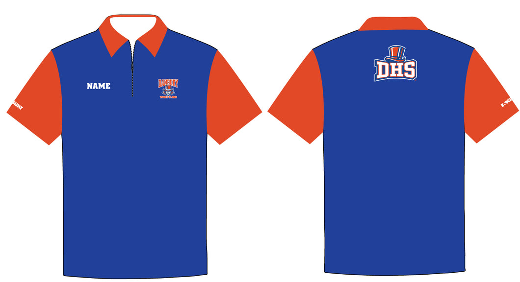 Danbury HS Wrestling Sublimated Polo - 5KounT2018