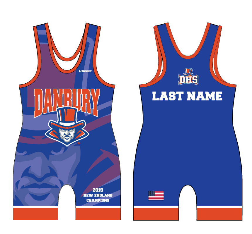 Danbury HS Wrestling Sublimated Singlet - 5KounT2018