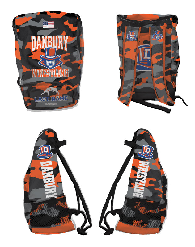 Danbury High School Wrestling Sublimated Backpack - 5KounT