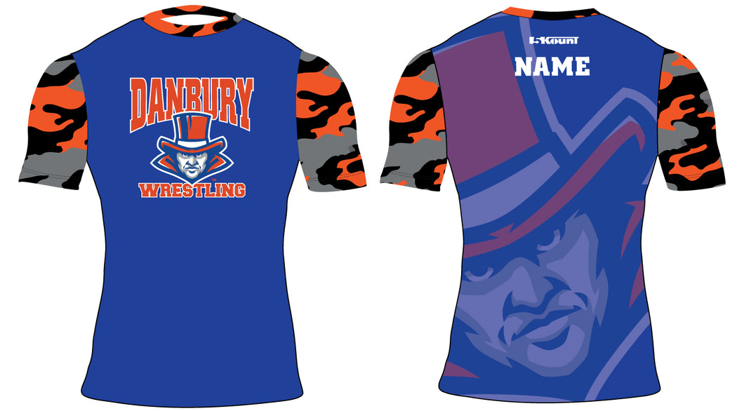 Danbury HS Wrestling Sublimated Compression Shirt - 5KounT2018