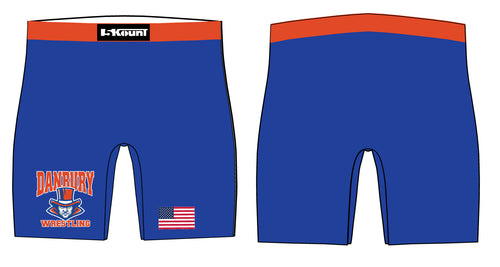 Danbury HS Wrestling Sublimated Compression Shorts - 5KounT2018
