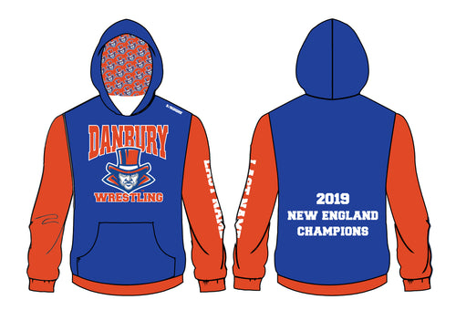 Danbury HS Wrestling Sublimated Hoodie - 5KounT2018