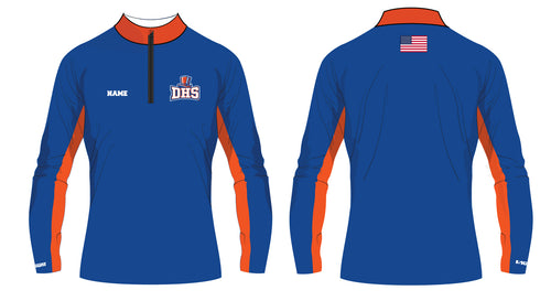 Danbury HS Wrestling Sublimated Quarter Zip - 5KounT2018