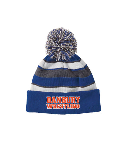 Danbury HS Wrestling Pom Beanie - Royal