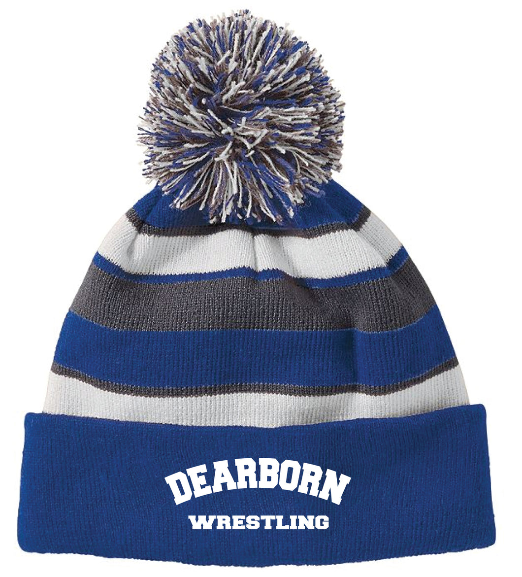 Dearborn Youth Wrestling Pom Beanie