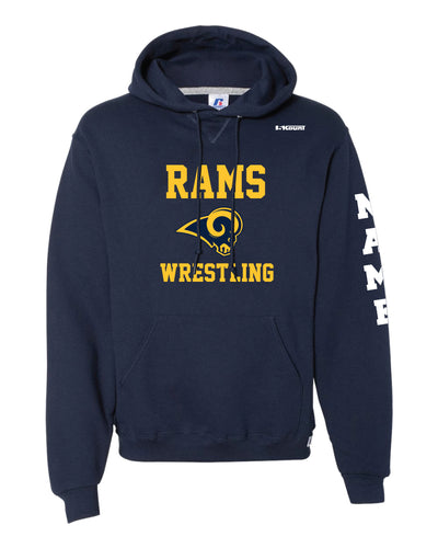 Del Val Wrestling Russell Athletic Cotton Hoodie - Navy - 5KounT2018