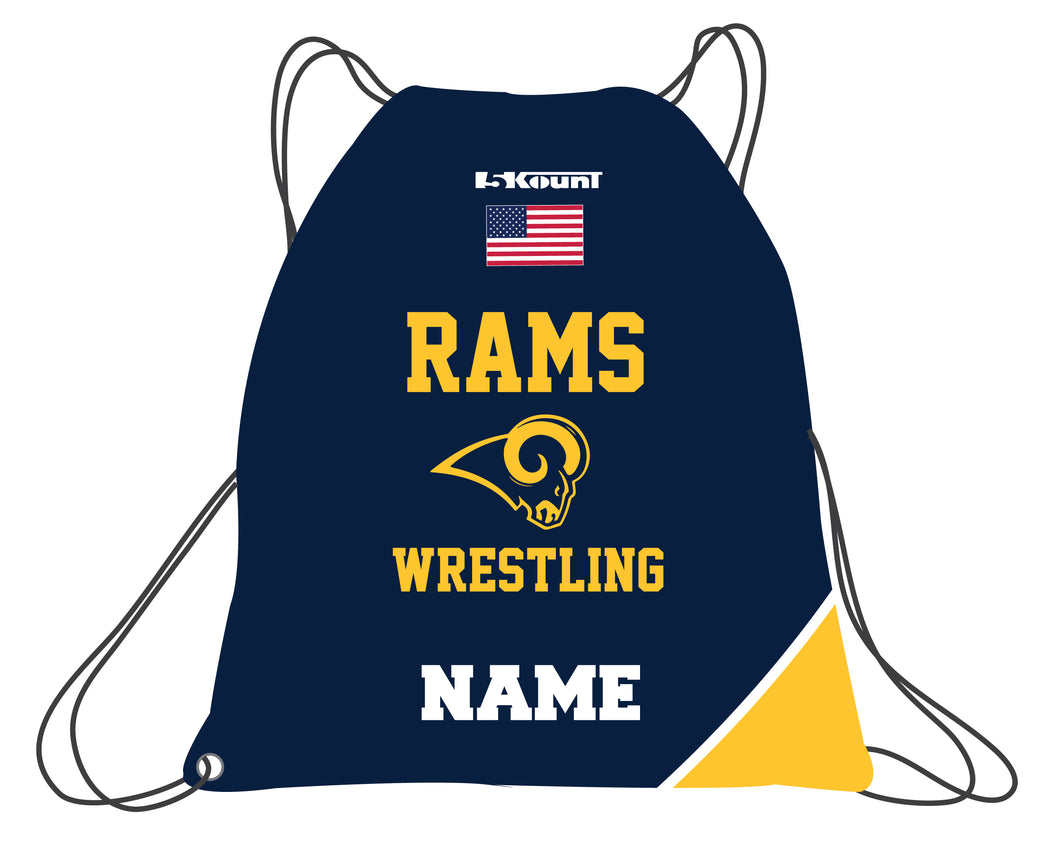 Del Val Wrestling Sublimated Drawstring Bag - 5KounT2018