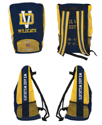 Del Val Wildcats Wrestling Sublimated Backpack