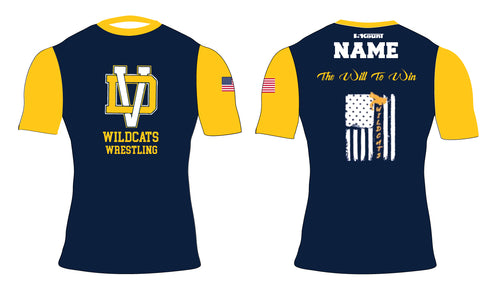 Del Val Wildcats Wrestling Sublimated Compression Shirt