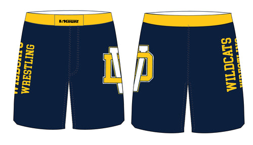 Del Val Wildcats Wrestling Sublimated Fight Shorts