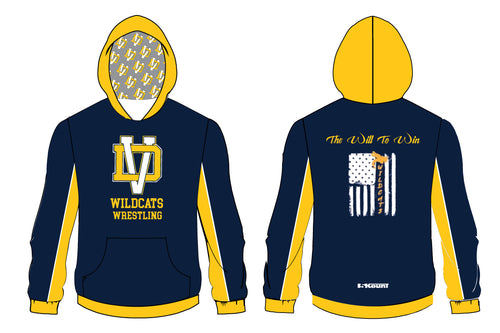 Del Val Wildcats Wrestling Sublimated Hoodie