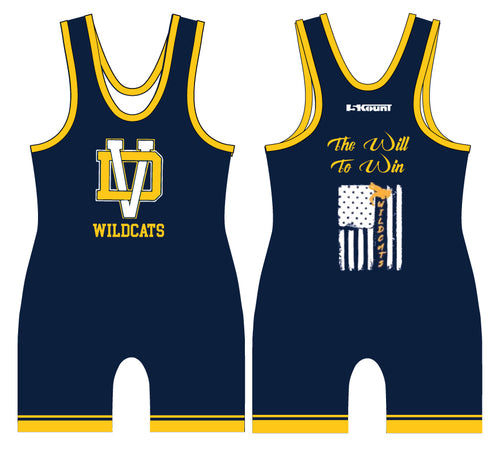 Del Val Wildcats Wrestling Sublimated Singlet