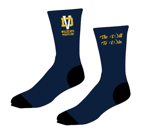 Del Val Wildcats Wrestling Sublimated Socks