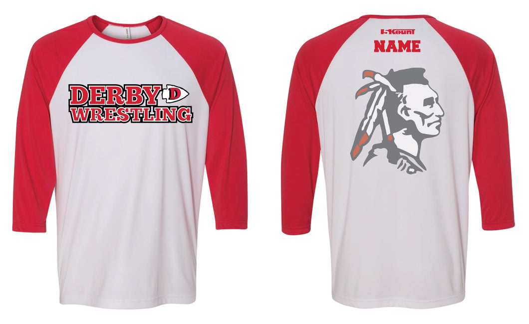 Derby HS Baseball Shirt - Red/White