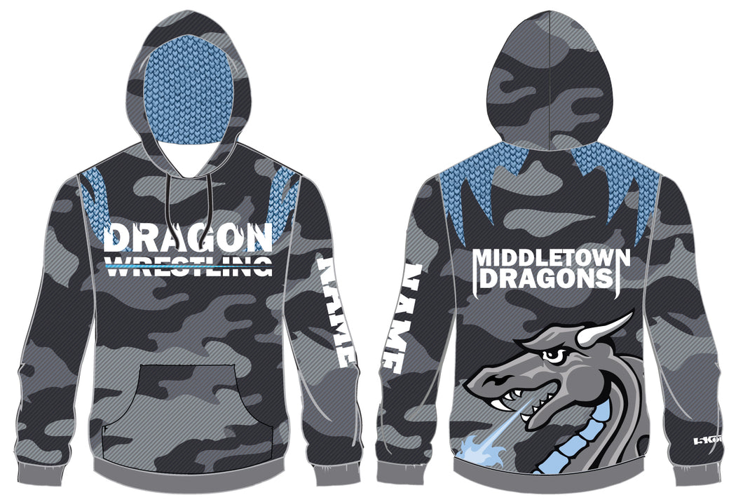 Middletown Dragons Sublimated Hoodie - 5KounT2018