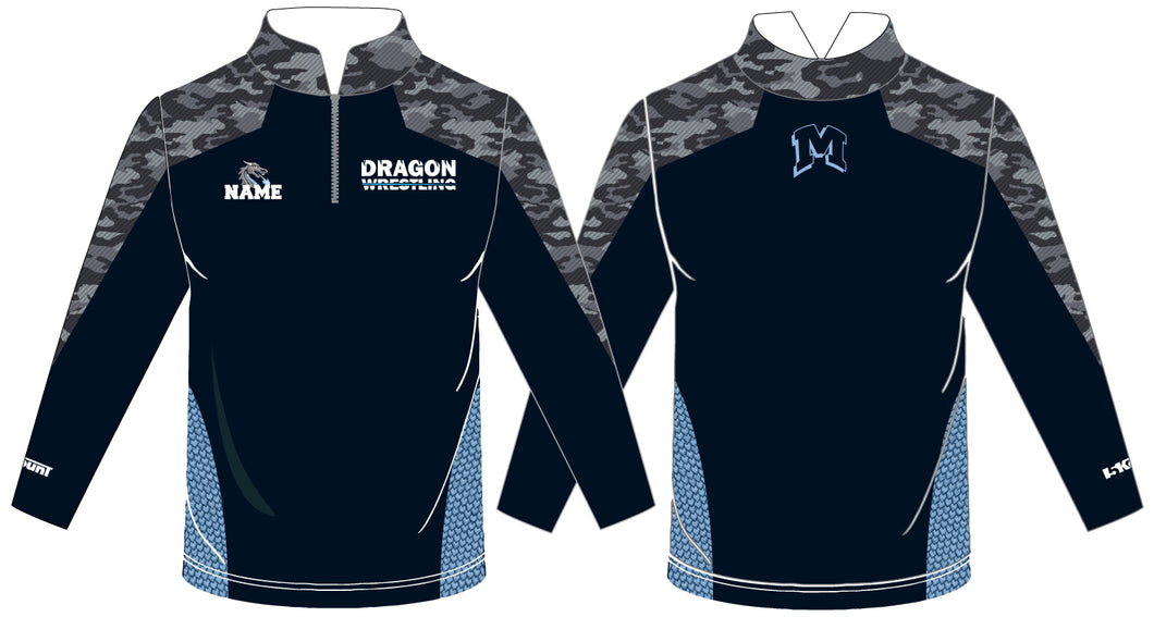 Middletown Dragons Sublimated Quarter Zip - 5KounT