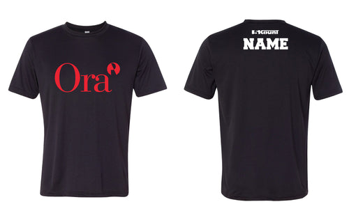 Ora Clinical DryFit Tee - Black/Red - 5KounT2018