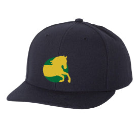 Bergen Equestrian Adjustable Baseball Cap - Navy