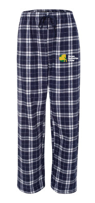 Bergen Equestrian Cotton Sweatpants - Navy Plaid