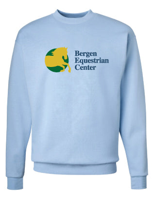 Bergen Equestrian Crewneck Sweatshirt - Light Blue