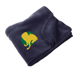 Bergen Equestrian Fleece Blanket - Navy