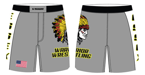 Essex Wrestling Sublimated Compression Shorts Grey, Black, Red