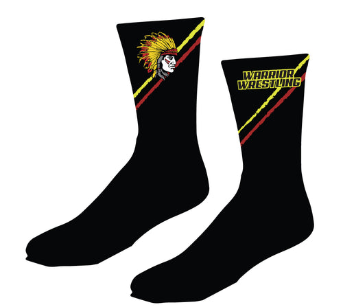 Essex Wrestling Sublimated Socks Black/Red