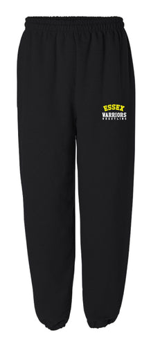 Essex Wrestling Cotton Sweatpants -Black