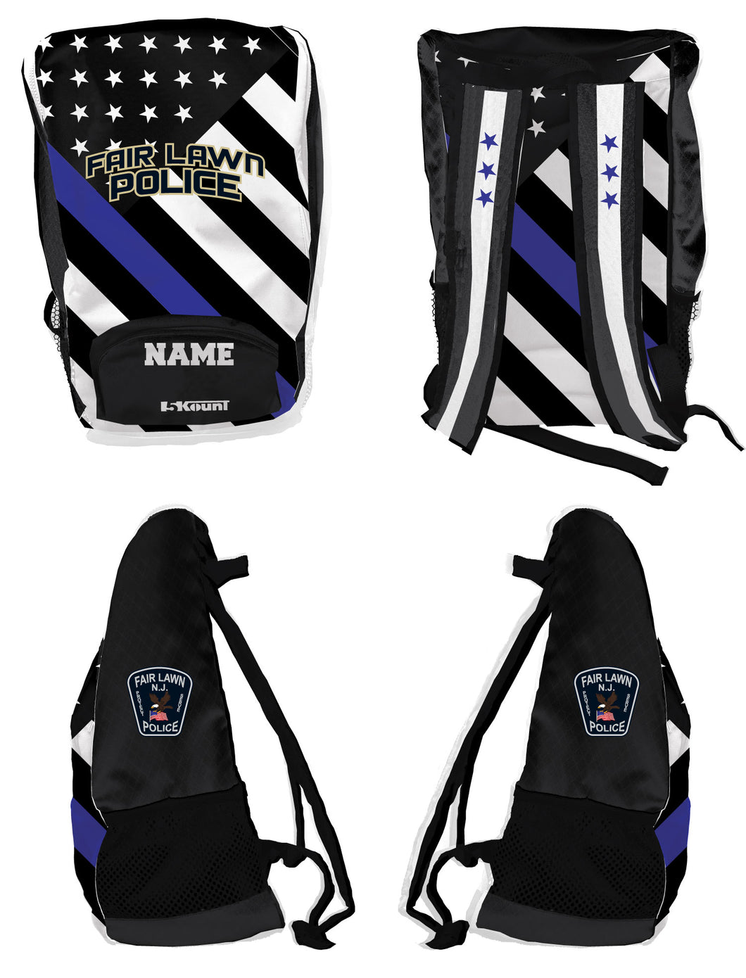 Fair Lawn Police Sublimated Backpack - 5KounT2018