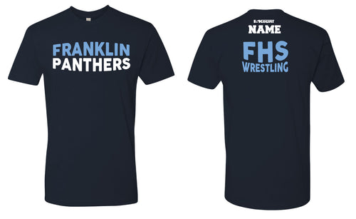 Franklin HS Wrestling Cotton Crew Tee - Navy