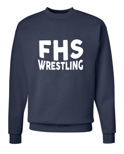 Franklin HS Wrestling Crewneck Sweatshirt -Navy
