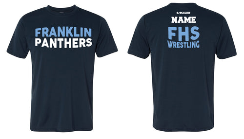 Franklin HS Wrestling DryFit Performance Tee - Navy