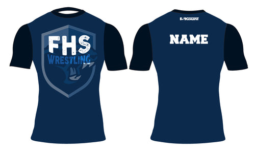 Franklin HS Wrestling Sublimated Compression Shirt