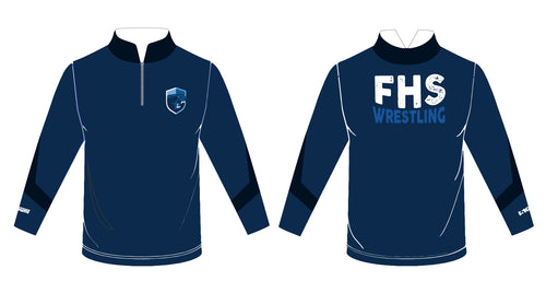 Franklin HS Wrestling Sublimated Quarter Zip