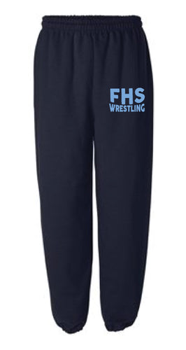 Franklin HS Wrestling Cotton Sweatpants - Navy