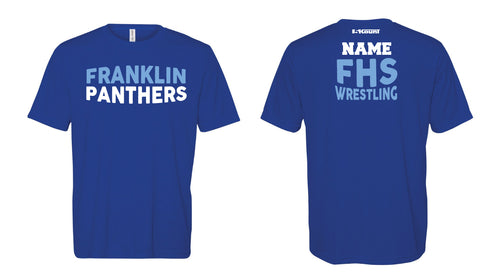 Franklin HS Wrestling DryFit Performance Tee - Royal