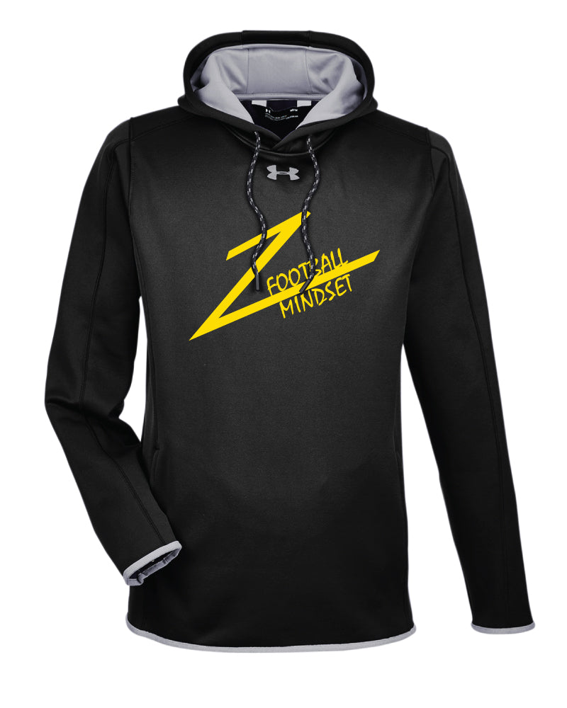 Football Mindset Under Armour Ladies' Double Threat Armour Fleece Hoodie - Black