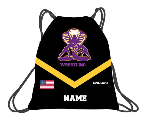 Fort Pierce Cobras Wrestling Sublimated Drawstring Bag - 5KounT2018