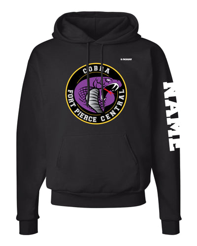 Fort Pierce Cobras Wrestling Russell Athletic Cotton Hoodie - Black - 5KounT2018