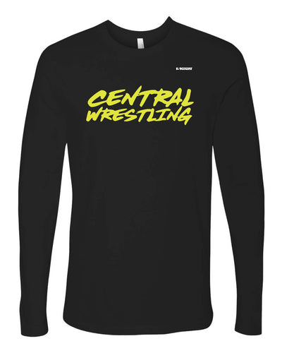 Fort Pierce Cobras Wrestling Long Sleeve Cotton Tee - Black - 5KounT