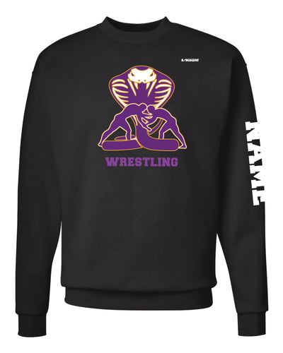 Fort Pierce Cobras Russell Athletic Cotton Crewneck Sweatshirt - Black - 5KounT2018
