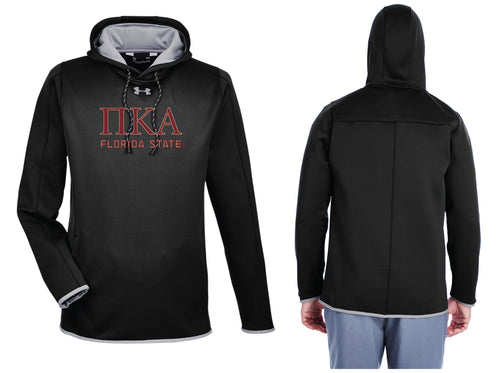 FSU Pike Fraternity Under Armour Men's Double Threat Armour Fleece® Hoodie - Black - 5KounT2018